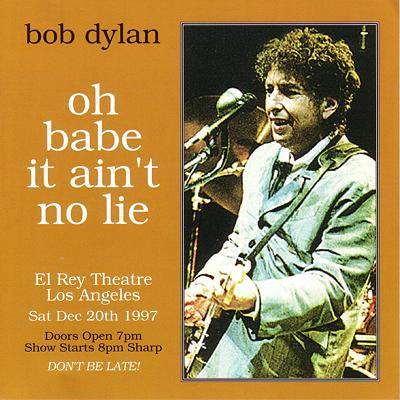 Bob Dylan in Los Angeles 20. 12. 1997 - Bootlegcover